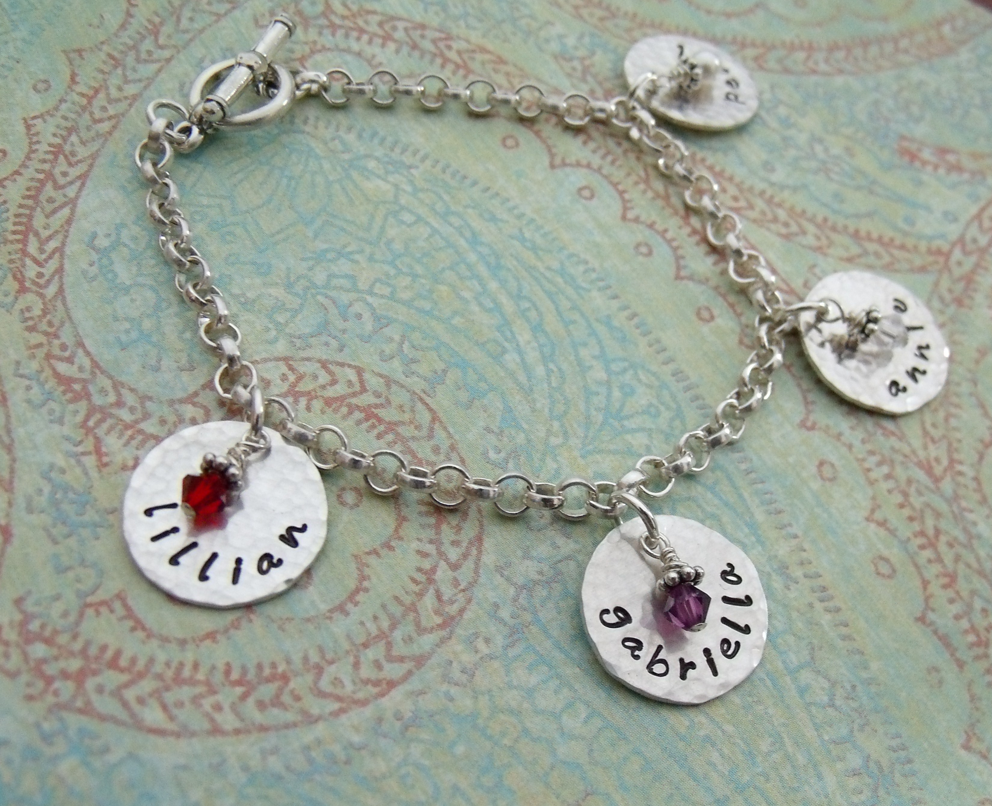 silver img dandelion your stamped journey stardust rounds copy puffs product hand domed with trust amethyst necklace